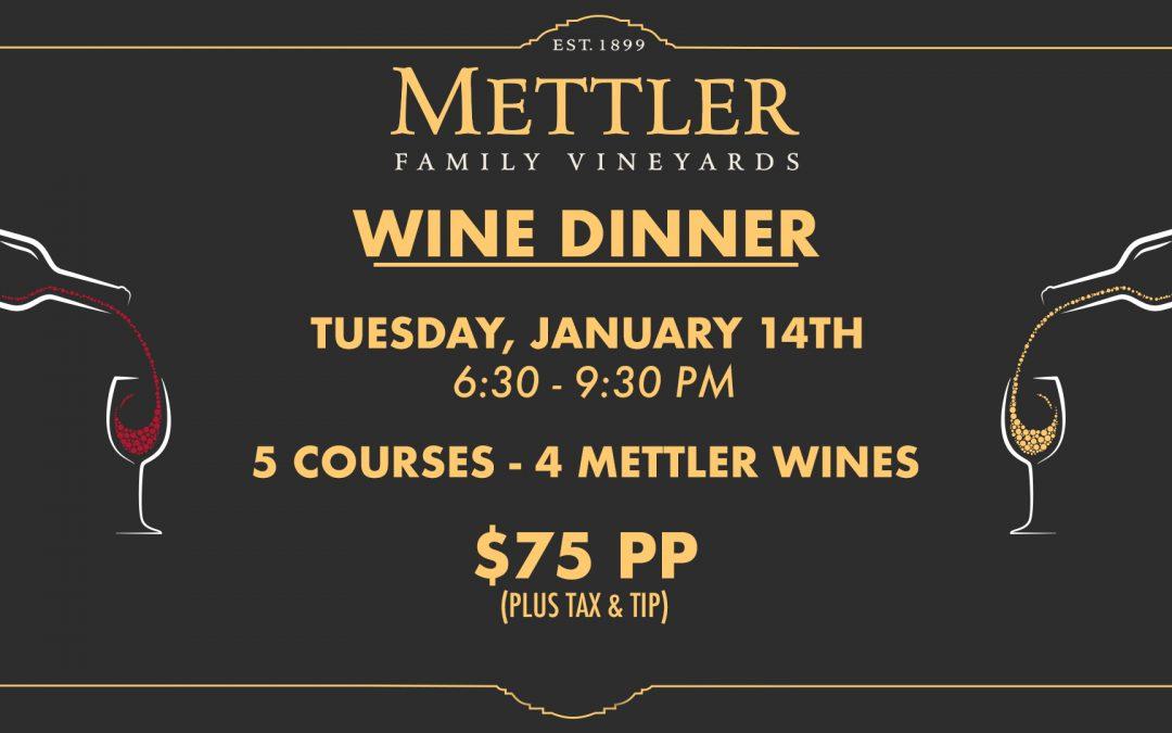 Mettler Wine Tasting Dinner